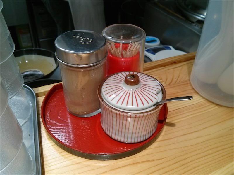 北大塚ラーメン 調味料