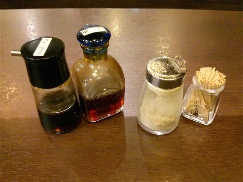 揚子江ラーメン 調味料
