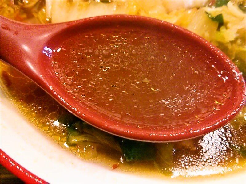 彩華ラーメン奈良店 スープ