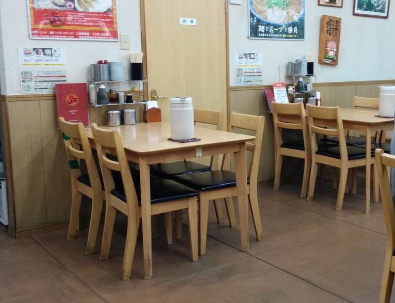 ラーメンマン テーブル席