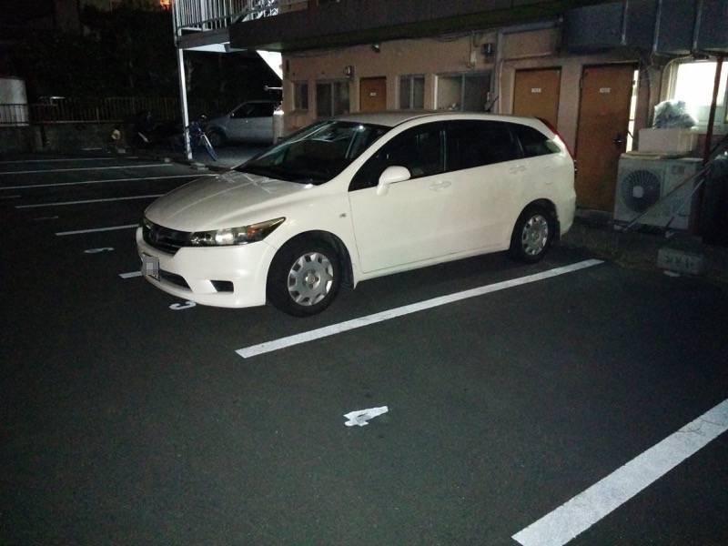 みそや 駐車場裏手