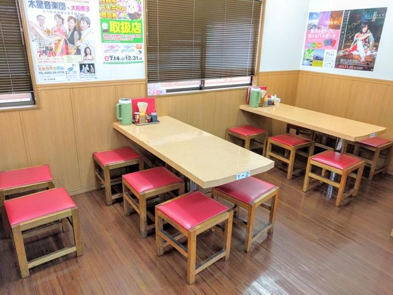 太七 テーブル席
