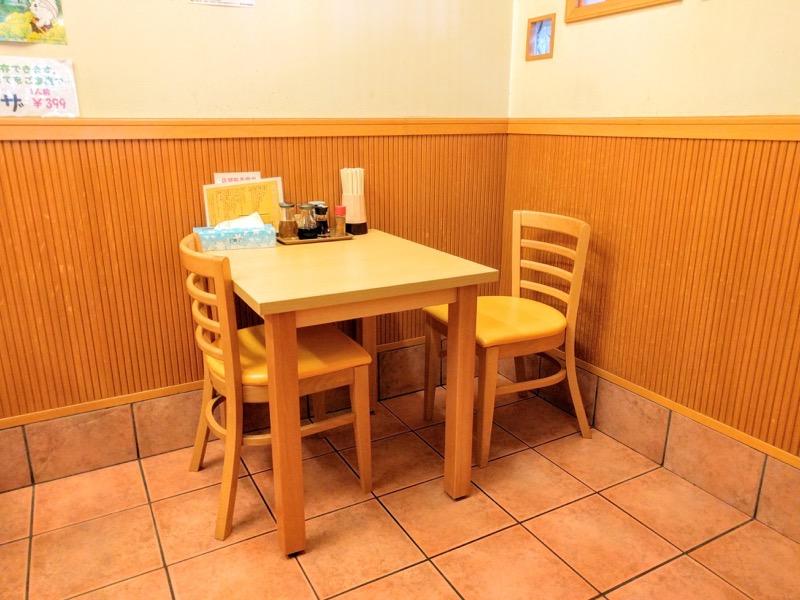 おぐら屋 テーブル席2