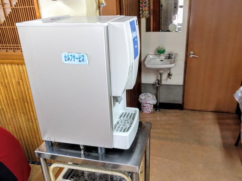 あべ食堂 給水機