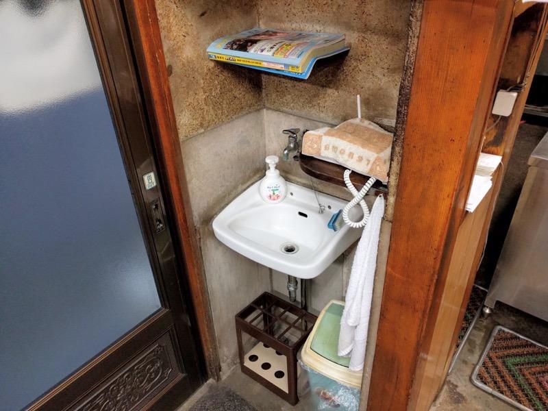 茶釜本店 洗面所