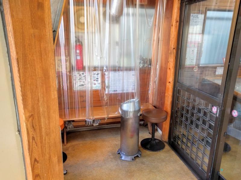 味の札幌大西 喫煙所