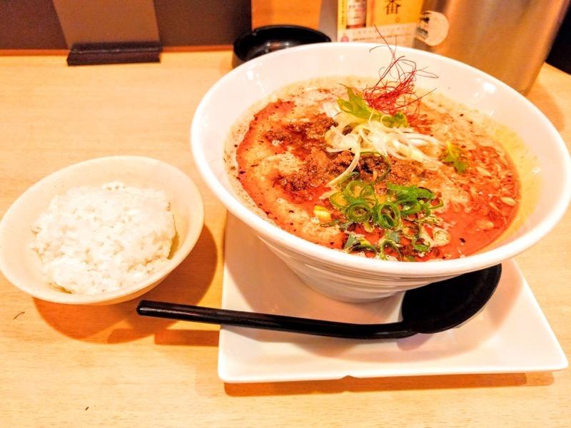 笑美寿亭 赤担々麺とご飯