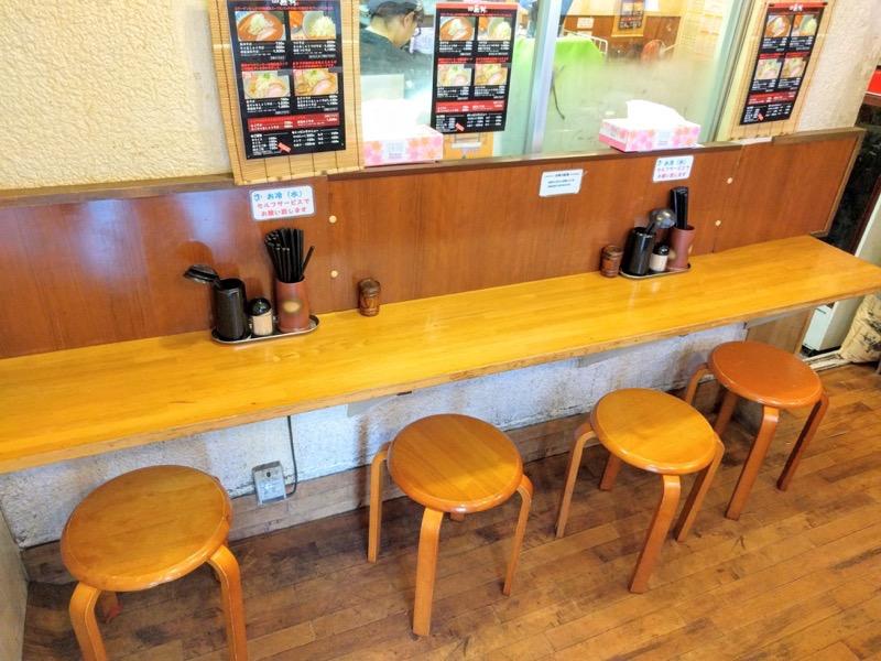 麺屋蕪村 カウンター席1