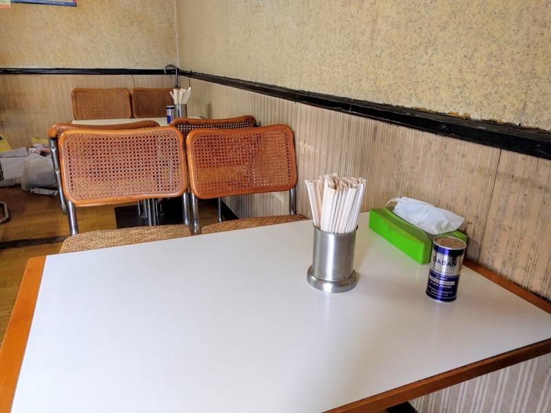 いとう食堂 テーブル席