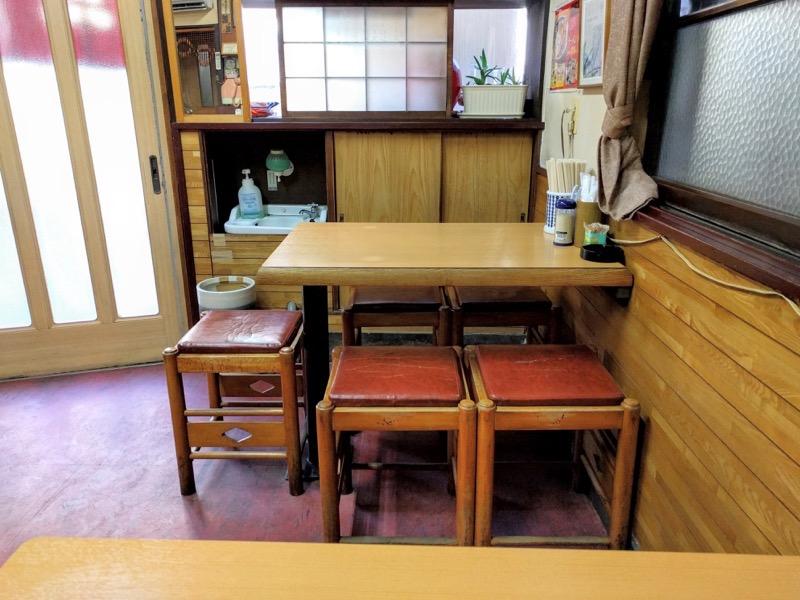三吉屋 テーブル席1