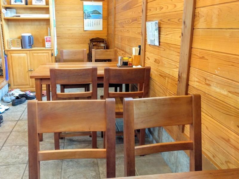 さらしな テーブル席