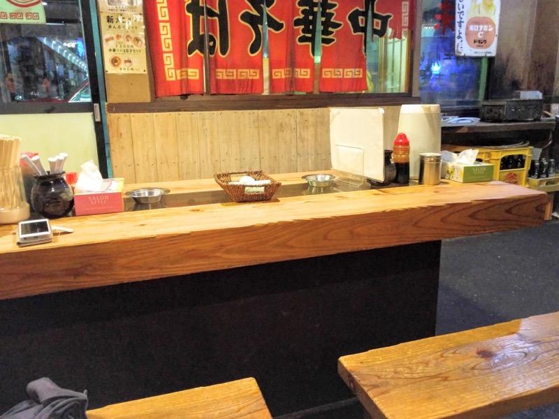 中華そば味 テーブル席