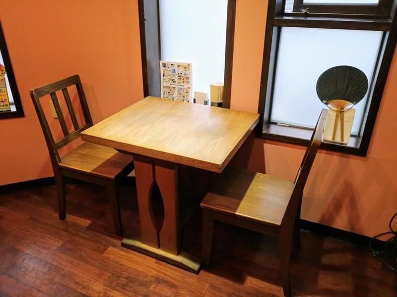 09テーブル席