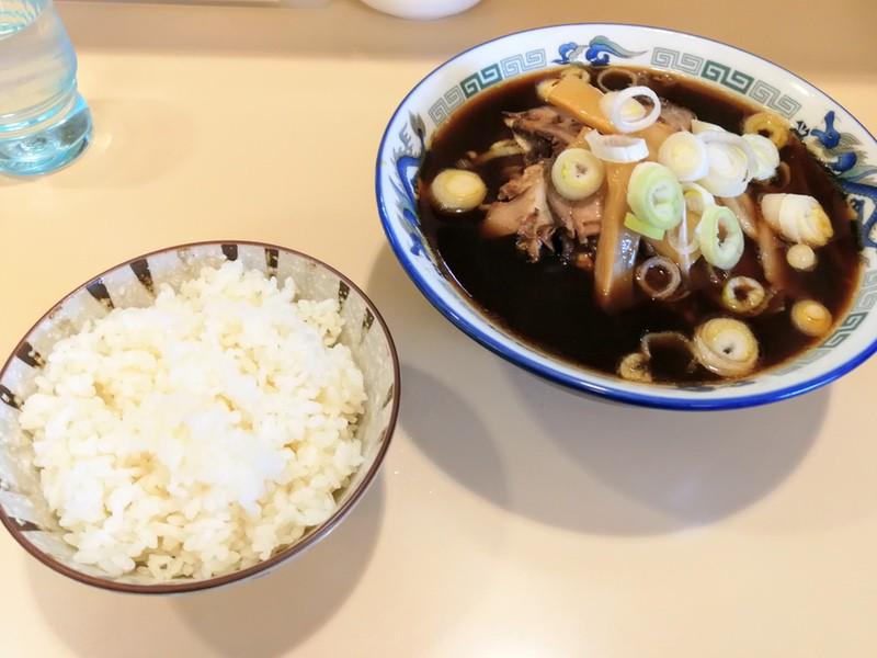 12富山ブラックラーメン並とご飯
