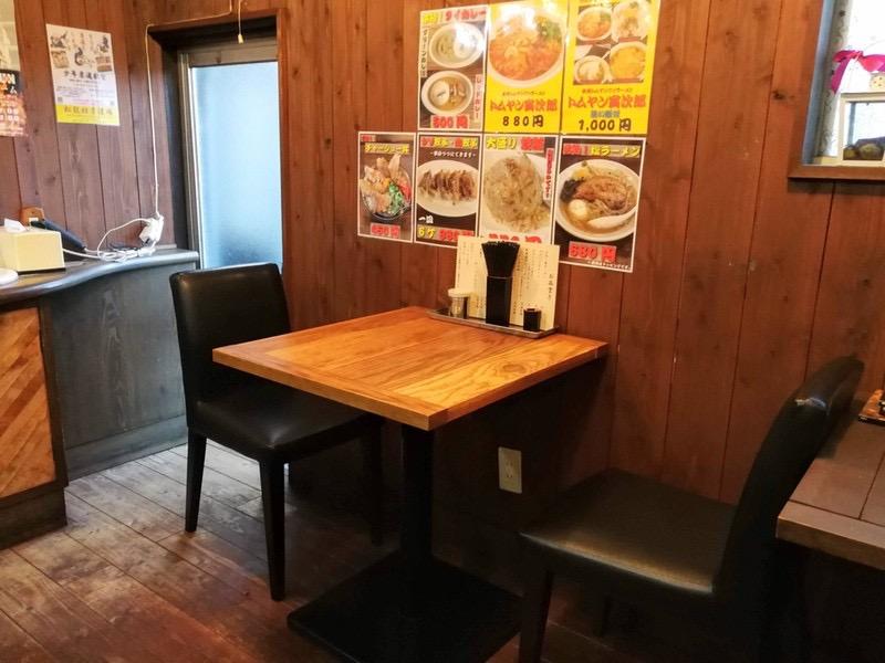06テーブル席